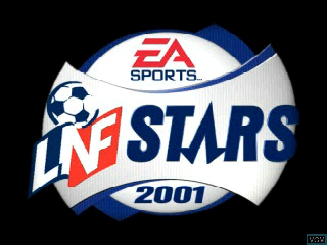 Title screen of the game LNF Stars 2001 on Sony Playstation