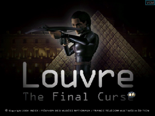 Title screen of the game Louvre - The Final Curse on Sony Playstation