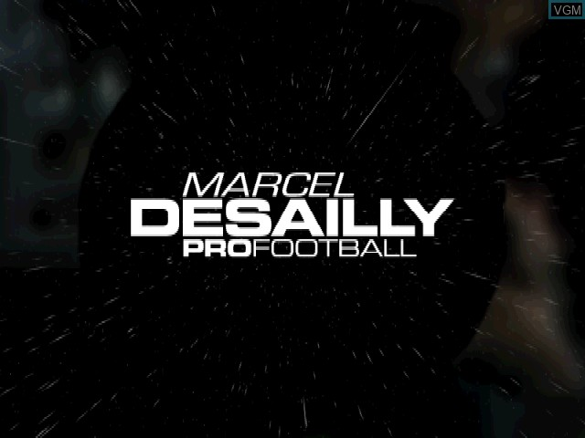 Title screen of the game Marcel Desailly Pro Football on Sony Playstation