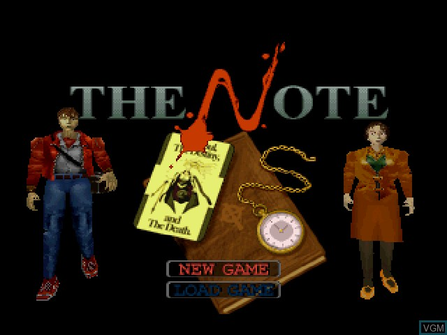 Title screen of the game Note, The on Sony Playstation
