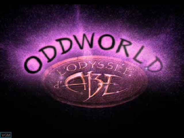 Title screen of the game Oddworld - L'Odyssee d'Abe on Sony Playstation