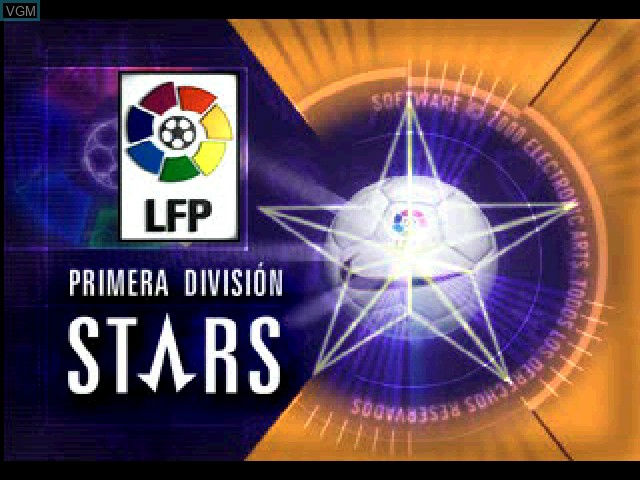 Title screen of the game Primera Division Stars on Sony Playstation