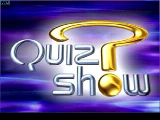 Title screen of the game Quiz Show on Sony Playstation