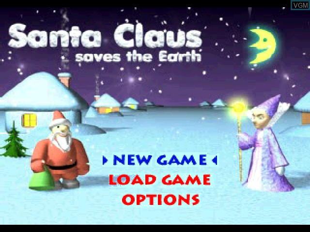 Title screen of the game Santa Claus Saves the Earth on Sony Playstation