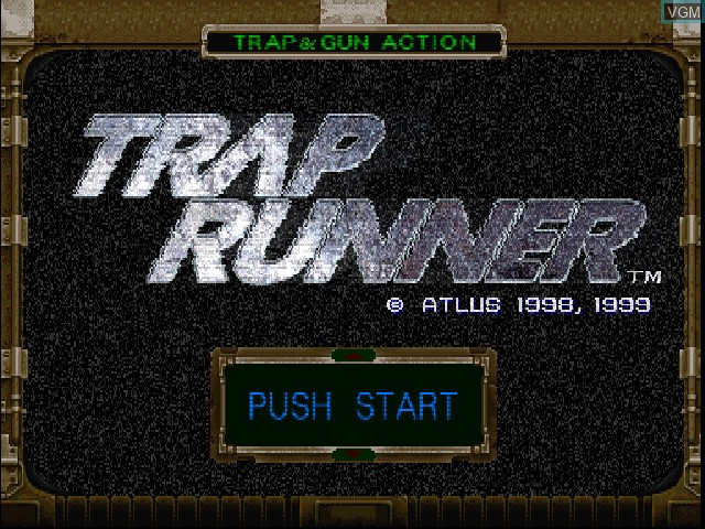 Title screen of the game Trap Runner on Sony Playstation