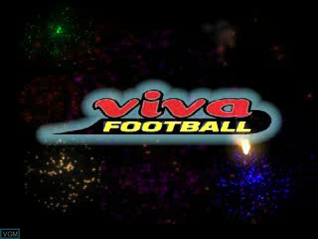 Title screen of the game Viva Football on Sony Playstation