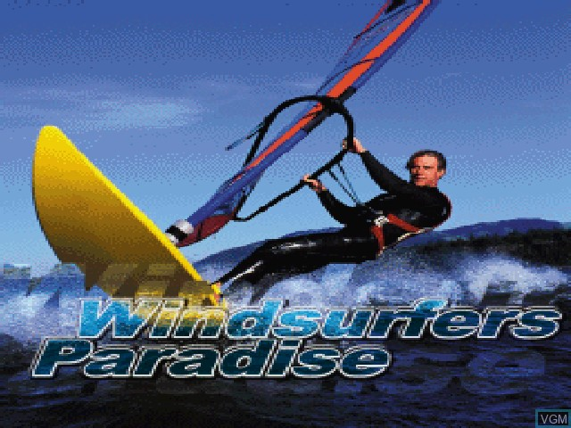 Title screen of the game Windsurfers Paradise on Sony Playstation