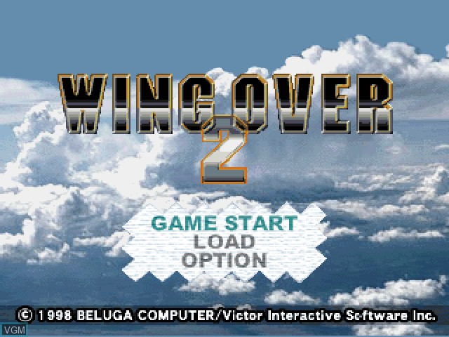 Title screen of the game Wing Over 2 on Sony Playstation
