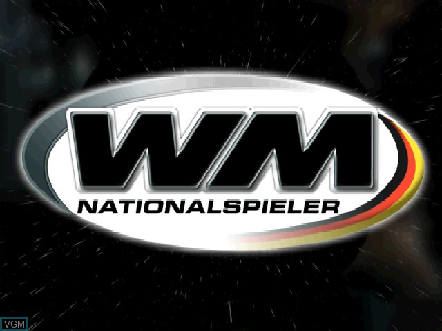 Title screen of the game WM Nationalspieler on Sony Playstation