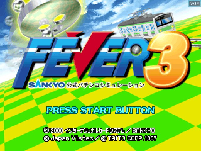 Title screen of the game Fever 3 - Sankyo Koushiki Pachinko Simulation on Sony Playstation