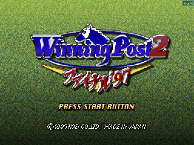 Title screen of the game Winning Post 2 - Final '97 on Sony Playstation