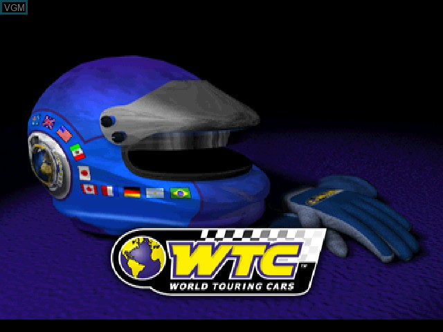 Title screen of the game WTC World Touring Car Championship on Sony Playstation