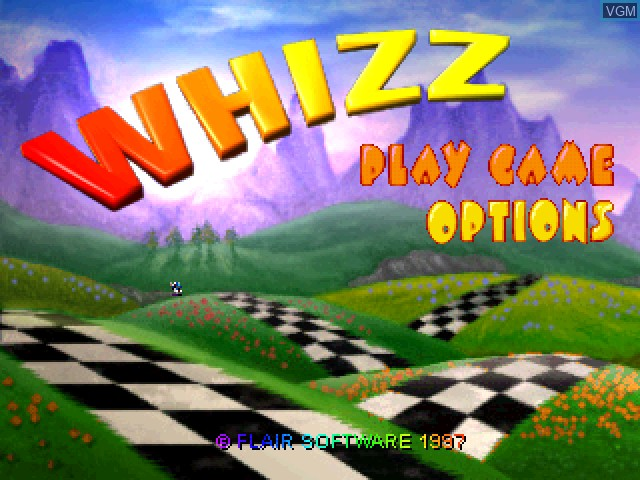 Title screen of the game Whizz on Sony Playstation