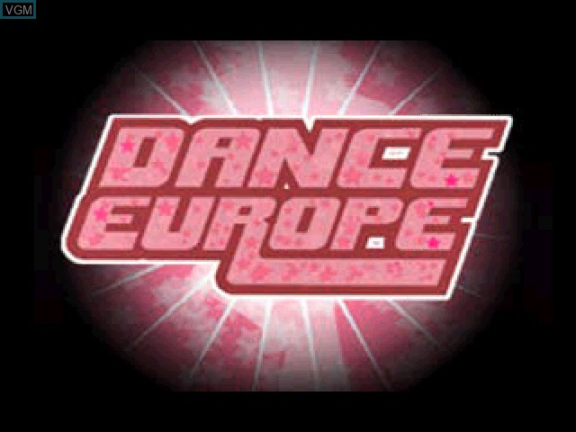 Title screen of the game Dance Europe on Sony Playstation