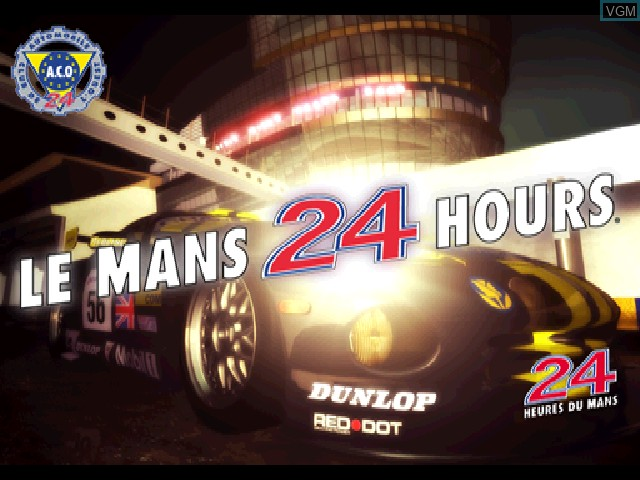 Title screen of the game Le Mans 24 Hours on Sony Playstation