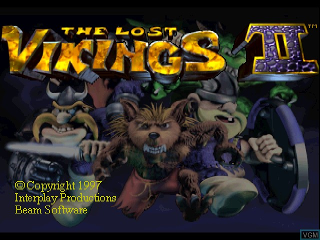 Title screen of the game Lost Vikings II, The on Sony Playstation