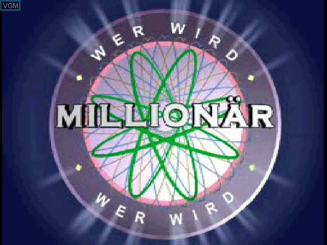 Title screen of the game Wer wird Millionaer on Sony Playstation