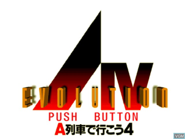 Title screen of the game A Ressha de Ikou 4 - Evolution on Sony Playstation