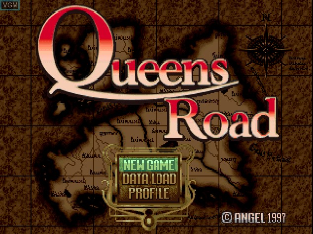 Title screen of the game Queen's Road on Sony Playstation