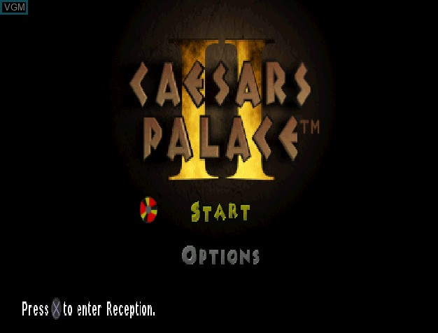 Title screen of the game Caesars Palace II on Sony Playstation