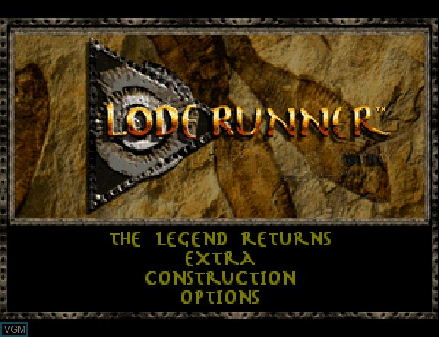Title screen of the game Lode Runner on Sony Playstation