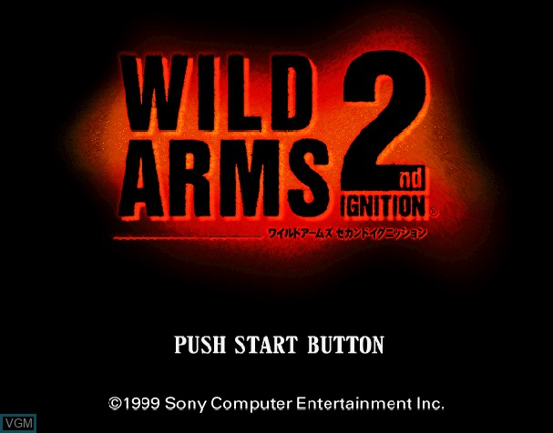 Title screen of the game Wild Arms - 2nd Ignition on Sony Playstation