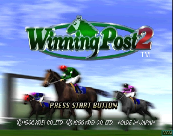 Title screen of the game Winning Post 2 on Sony Playstation