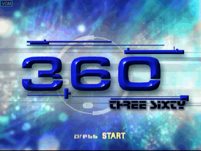 Title screen of the game 360 Three Sixty on Sony Playstation
