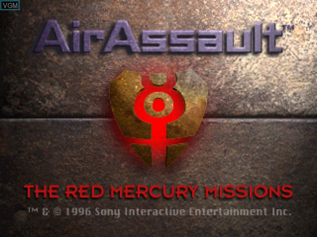 Title screen of the game AirAssault on Sony Playstation