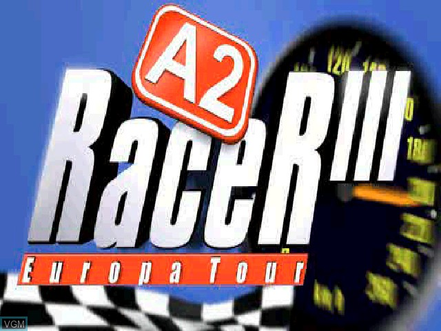 Title screen of the game A2 Racer - Europa Tour on Sony Playstation