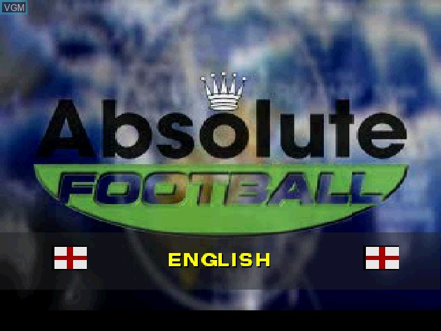 Title screen of the game Absolute Football on Sony Playstation
