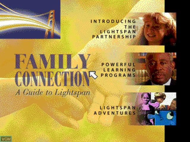 Title screen of the game Family Connection - A Guide to Lightspan on Sony Playstation