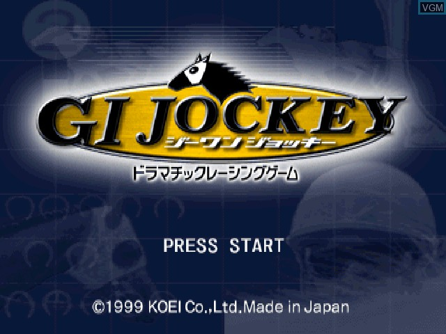 Title screen of the game G1 Jockey on Sony Playstation