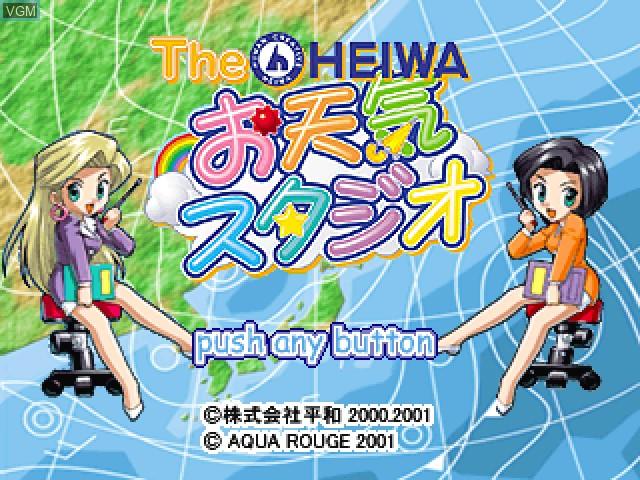 Title screen of the game Heiwa Otenki Studio, The on Sony Playstation