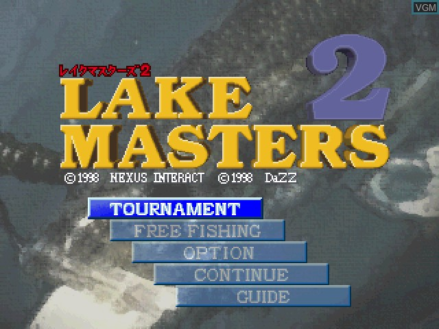 Title screen of the game Lake Masters 2 on Sony Playstation