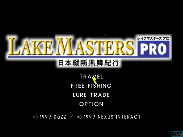 Title screen of the game Lake Masters Pro on Sony Playstation