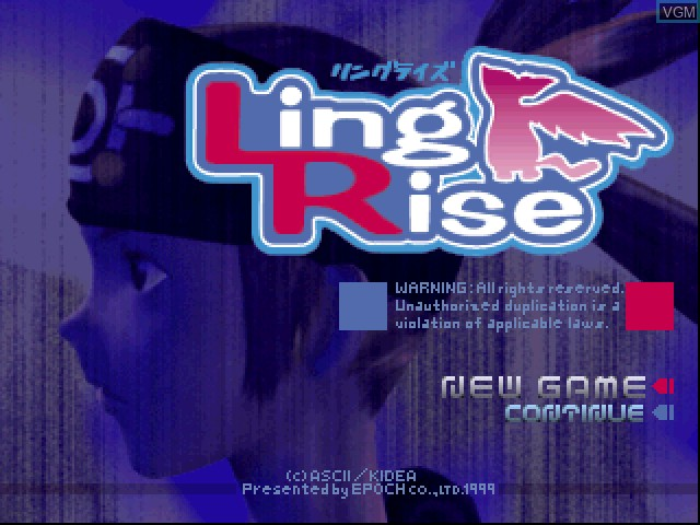 Title screen of the game Ling Rise on Sony Playstation