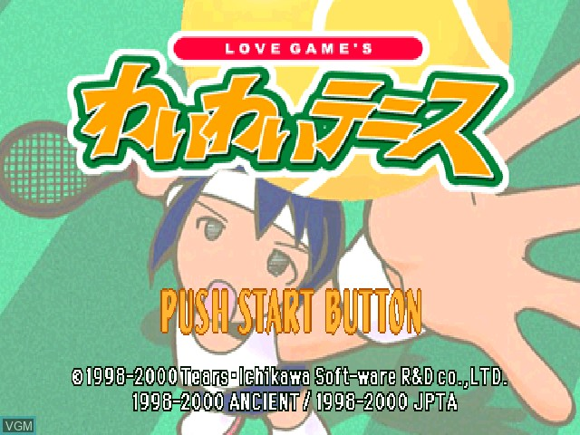 Title screen of the game Love Game's - Wai Wai Tennis on Sony Playstation