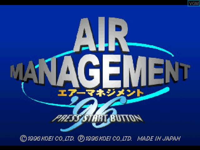 Title screen of the game Air Management '96 on Sony Playstation