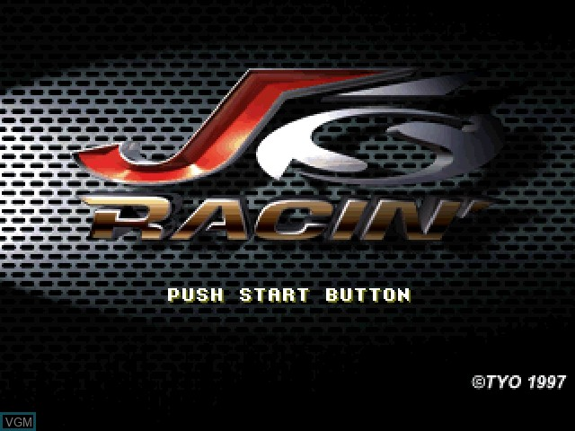 Title screen of the game J's Racin' on Sony Playstation