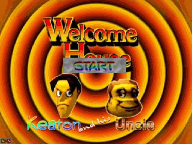 Title screen of the game Welcome House on Sony Playstation