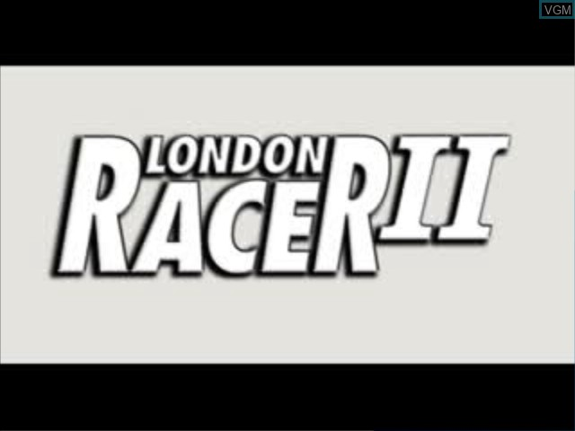 Title screen of the game London Racer II on Sony Playstation