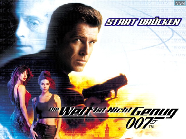 Title screen of the game 007 - Die Welt ist nicht genug on Sony Playstation