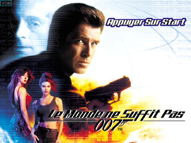 Title screen of the game 007 - Le Monde ne Suffit Pas on Sony Playstation