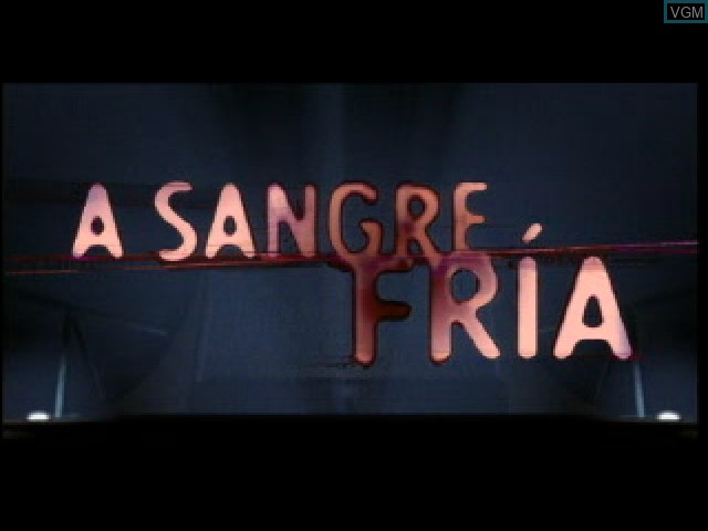 Title screen of the game A Sangre Fria on Sony Playstation