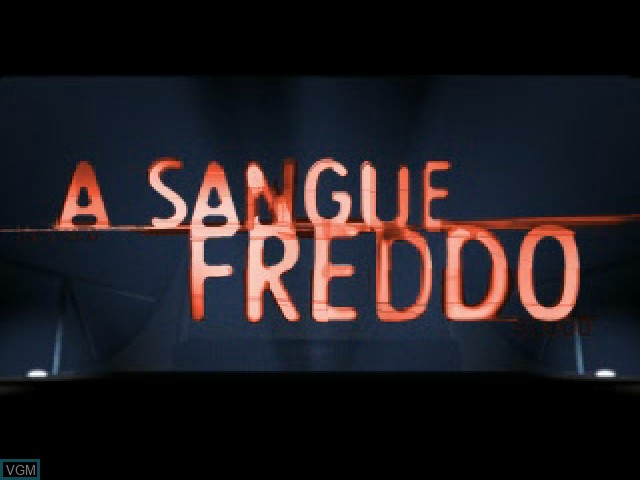 Title screen of the game A Sangue Freddo on Sony Playstation