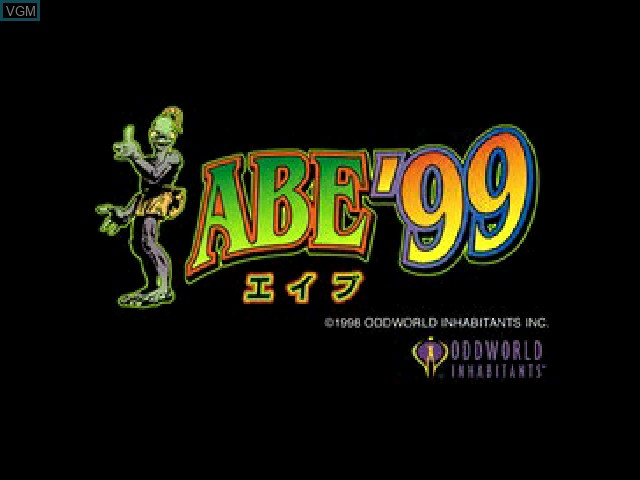 Title screen of the game Abe '99 on Sony Playstation