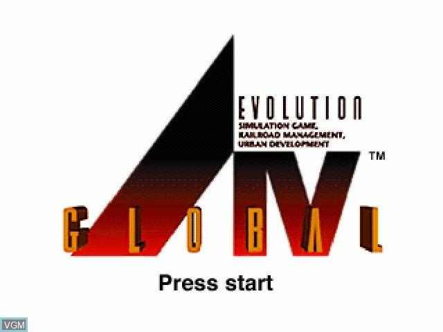 Title screen of the game A.IV - Evolution Global on Sony Playstation