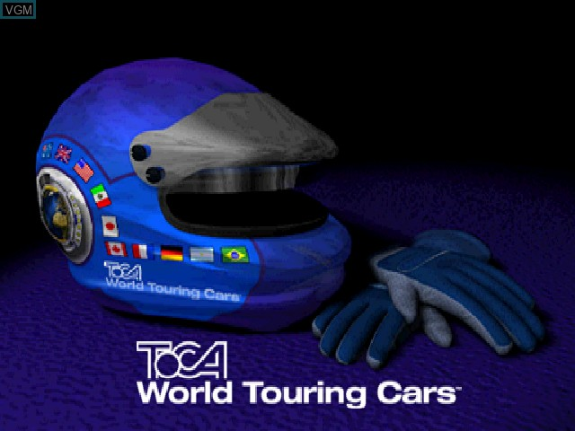 Title screen of the game TOCA World Touring Cars on Sony Playstation