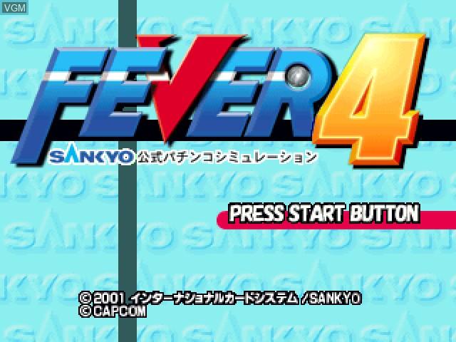 Title screen of the game Fever 4 - Sankyo Koushiki Pachinko Simulation on Sony Playstation